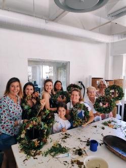 A wreath workshop